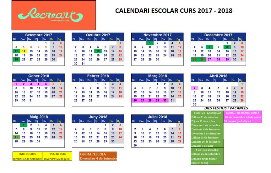 calendari 2018 modificado Abril